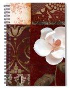 Flores Blancas Square I Spiral Notebook