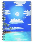 Florida Keys Moon Rise Spiral Notebook