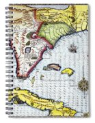 Florida: Map, 1591 Spiral Notebook