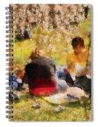 Flower - Sakura - Afternoon Picnic Spiral Notebook