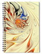 Flower Abstract Light Spiral Notebook