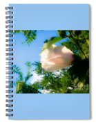 Flower Against The Sky Spiral Notebook