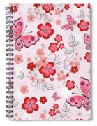 Flower And Butterfly Bj01 Spiral Notebook