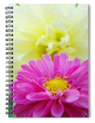 Flower Art Print White Pink Dahlia Floral Canvas Baslee Troutman Spiral Notebook