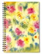 Flower Bed Spiral Notebook
