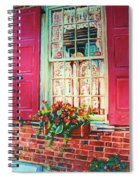 Flower Box  And Pink Shutters Spiral Notebook