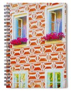 Flower Boxes In Slavonice Spiral Notebook