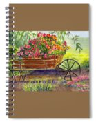 Flower Cart Spiral Notebook