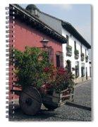 Flower Cart Old Antigua Spiral Notebook
