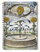 Flower Clock, 1643 Spiral Notebook