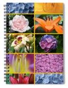 Flower Collage 1 Spiral Notebook