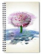 Flower Digital Art Spiral Notebook