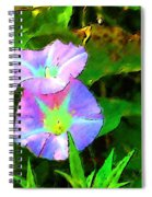 Flower Drawing Spiral Notebook
