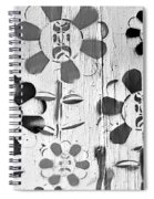 Flower Face B W Spiral Notebook
