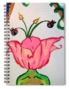Flower Face Spiral Notebook
