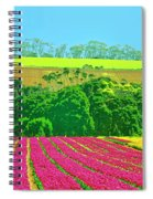 Flower Farm And Hills Spiral Notebook