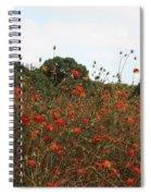 Flower Field In Hama-rikyu Gardens Spiral Notebook