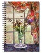 Flower - Flower - A Vase Of Flowers  Spiral Notebook