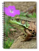 Flower, Frog, Fly Spiral Notebook