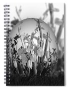Flower Garden For Coloring Spiral Notebook
