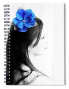 Flower Girl Blue Selective Colour Spiral Notebook