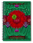 Flower Girl With Sunrose In Her Hair And Pandabears Spiral Notebook