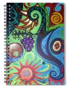 Flower Goyle With Grapes Spiral Notebook