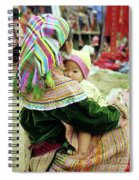 Flower Hmong Mother And Baby 02 Spiral Notebook