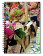 Flower Hmong Mother And Baby Spiral Notebook