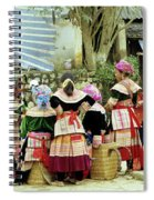 Flower Hmong Women 02 Spiral Notebook