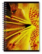 Flower In Abstraction Art Spiral Notebook