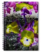 Flower Like Purple And Yellow Spiral Notebook
