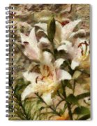 Flower - Lily - White Lily Spiral Notebook