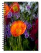 Flower Motion Spiral Notebook
