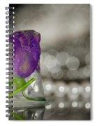 Flower Of Ice Spiral Notebook