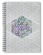 Flower Of Life Abalone Shell On Pearl Spiral Notebook