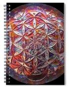 Flower Of Life Copper Lightmandala Spiral Notebook