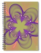 Flower Of Pink - Purple Spiral Notebook