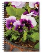 Flower - Pansy - Purple Pansies Spiral Notebook