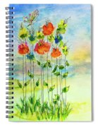 Flower Patch With Butterfly Spiral Notebook