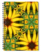 Flower Pattern Spiral Notebook