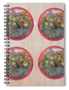 Flower Photo Globes Spiral Notebook