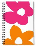 Flower Power 4- Art By Linda Woods Spiral Notebook
