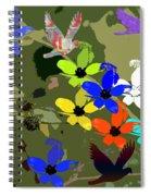 Flower Power 48 Spiral Notebook