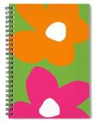 Flower Power 5- Art By Linda Woods Spiral Notebook