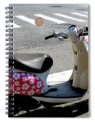 Flower Power For A Montreal Motor Scooter Spiral Notebook