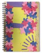 Flower Scene Spiral Notebook