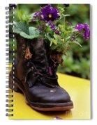Flower Shoe Pot Spiral Notebook