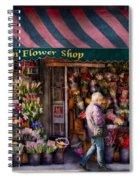 Flower Shop - Ny - Chelsea - Hudson Flower Shop  Spiral Notebook