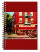 Flower Shop On The Corner Spiral Notebook